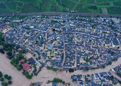 Überflutete Altstadt Ahrweiler